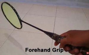 Teknik Forehand Grip teknik dasar bulu tangkis