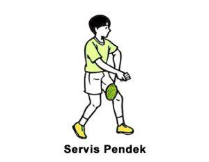 Teknik dasar bulu tangkis Servis Pendek